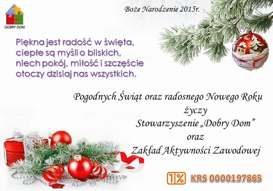 Boże Narodzenie 2015 - Dobry Dom