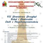 Zaproszenie na VII Powiatowy Przegląd Kolęd i Pastorałek