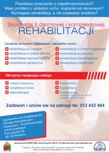 Potrzebujesz rehabilitacji - ZAPRASZAMY