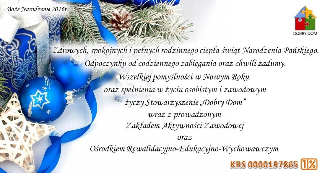 Boże Narodzenie - Stowarzyszenie Dobry Dom
